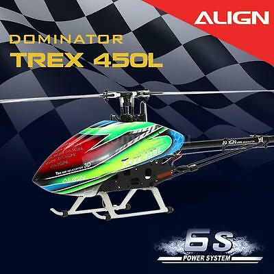 ALIGN T-REX 450L Dominator Combo DFC 3D 6S Power System RC Helicopter T4M2