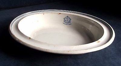 "OLD Large 12"" ~ HAMPSHIRE Regiment ~ MILITARY BOWL ~ c1900"