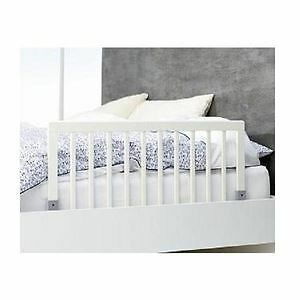 BabyDan Childrens Wooden Bed Rail Deluxe Safety Toddler Bed Guard White