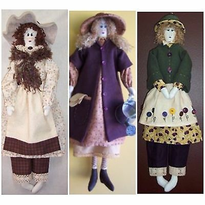 Sewing Pattern x 3 - Country Doll Patterns