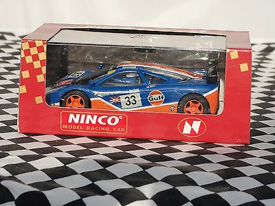 "Ninco Mclaren F1 Gtr ""gulf""  #33   50140  1:32 New Old Stock Boxed"