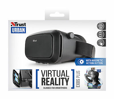 "Trust 21534 Exos Plus Virtual Reality Glasses Headset For 3.5"" To 6"" Smartphones"