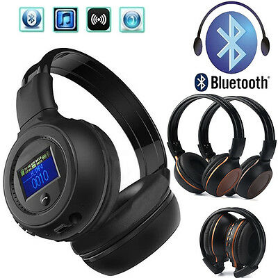 Foldable Wireless Stereo Bluetooth Headset Headphones + With Call Mic For iPhone