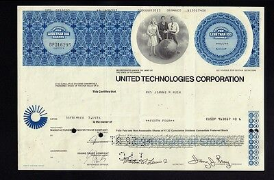 UTC : UNITED TECHNOLOGIES CORPORATION issued to Jeanne Rush 1976