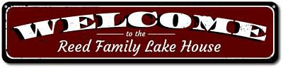 Welcome Sign, Personalized Lake House Sign, Lake House Decor Sign ENSA1001114