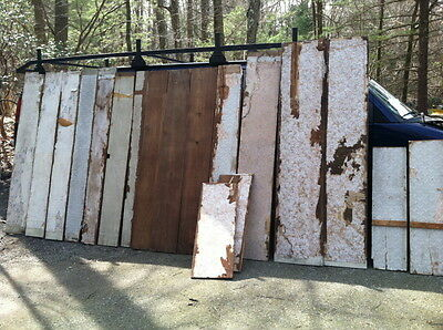 Rare 18th century hand planed Chestnut board wall from the 1700s old wall paper