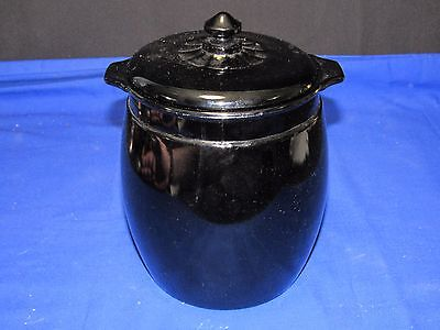 Depression Era Smith Glass Purple Amethyst Cookie Jar-Biscuit-Canister w/Handles
