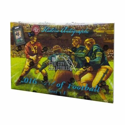 2016 Historic Autographs Art of Football Hobby Box