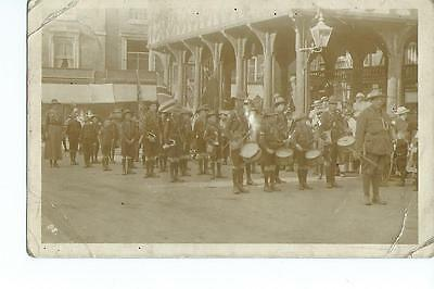 Herefordshire, RP of Ledbury Boy Scouts beside the  Market House PU @ 1912