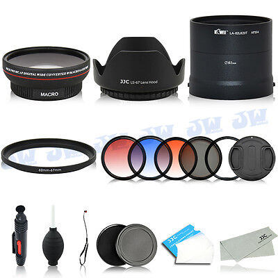 Wide Angle Lens Adapter UV CPL Graduated Filters Kit FOR Nikon COOLPIX L820 L830