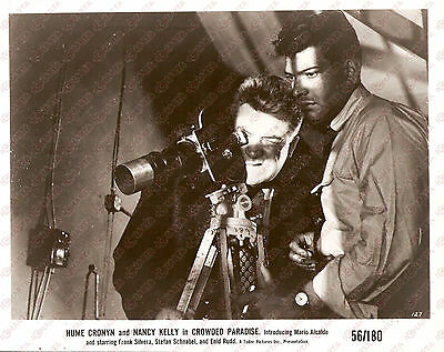 1956 CROWDED PARADISE Movie by Fred PRESSBURGER Private detectives use camera