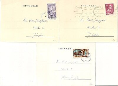 3 Covers  Suede Sweden Trycksak. Lidkoping. L 610