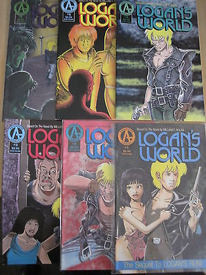 Logan's World : Complete 6 Issue Series. 1,2,3,4,5,6. Adventure Comics.1991