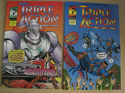 ETERNITY TRIPLE ACTION featuring GIGANTOR : #s 1 & 2. ETERNITY. 1993