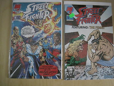 STREET FIGHTER : issues 1 & 3. MALIBU. 1993