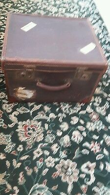 vintage leather bound trunk