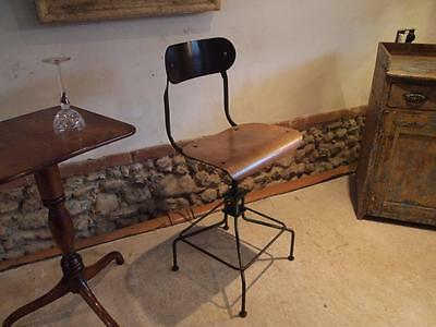 Chair machinist or architects chair metal industrial c1930
