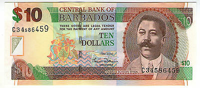 **   BARBADE     10  dollars   2007   p-68a    UNC   **