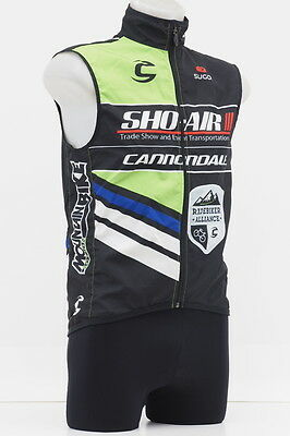Sugoi Team Cannondale Sho-Air Cycling Windbreaker Vest Size Small