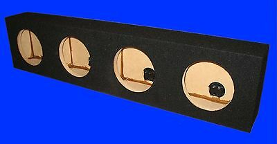 "4 Four Hole 6""  6 1/2"" Loudspeaker Woofer Mid Range / Mid Bass Black Speaker Box"