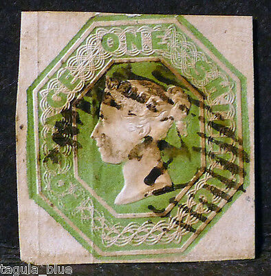 GB Stamps sg55 1s green - Fine used example