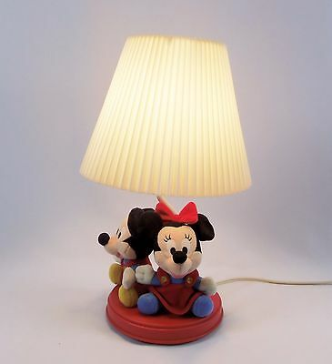 Baby Mickey and Minnie Mouse Lamp Walt Disney Dolly Toy Co  Plush Figures  5704
