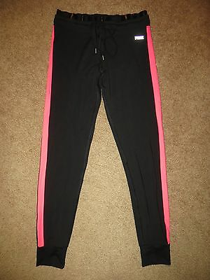 Victoria's Secret Pink Black Stripe Ultimate Yoga Gym Pants Sweats Nwt Xs S
