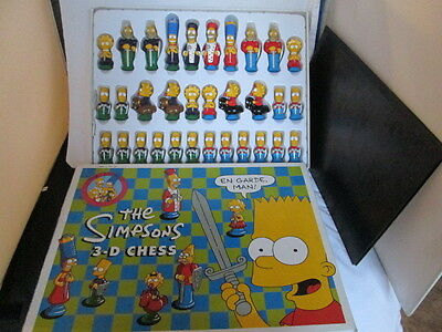 Vintage 1991 The Simpsons 3-D Chess Board Game Collectible  Matt Groening