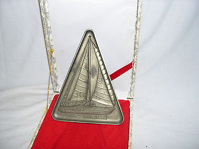 Commemorating 60th Anniversary of the Dong-A-Il Bo, plaque,  Yacht Blue Bird