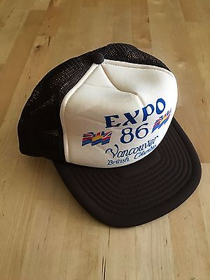 1986 World Expo souvenir trucker hat vintage brown Vancouver British Columbia