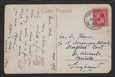 Uk Offices In Turkey 1920 Postcard Constantinople To Bristol England