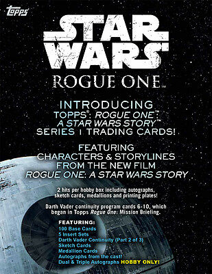 Star Wars Rogue One Series 1 ~ FACTORY SEALED HOBBY CASE (12 boxes)