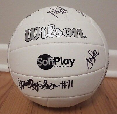 2016 Minnesota Gophers Team Autographed Auto Signed Volleyball Sarah Wilhite
