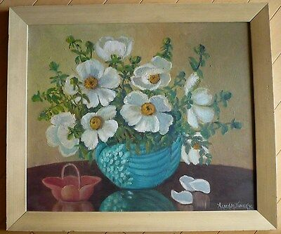 Alice Tingey, Listed Early California Calif Ca Floral Vintage Oil Impressionism