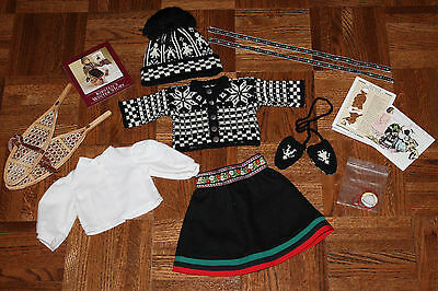 American Girl Doll Kirsten's Winter Skirt & Blouse Hand Knit Woolens & Pastimes