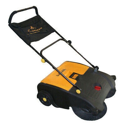 Walk Behind Manual Floor Sweeper Heavy Duty 50L Wet Dry 3000Sqm/hour