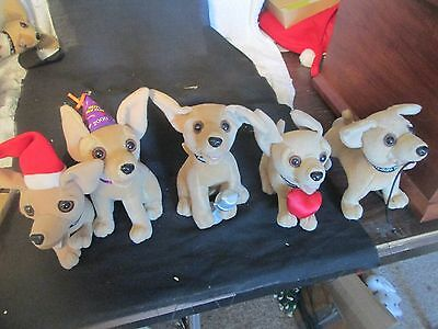 Mixed Lot of 5 Taco Bell Chihuahuas Plush Stuffed Dogs
