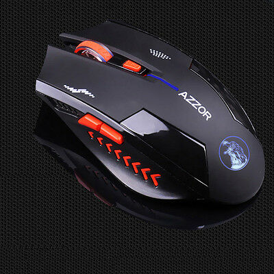 2.4G Wireless 2400DPI Rechargeable Optical Micro USB Ergonomic Gaming Mouse Mice