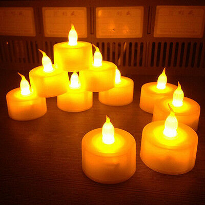 6X DIY Flameless LED Tealight Flickering Tea Light Candles Wedding Party Decor