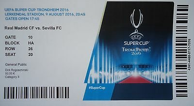mint Online TICKET UEFA Supercup 9.8.2016 Real Madrid - Sevilla FC