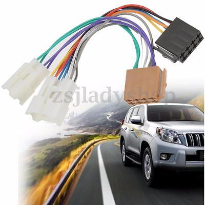 ISO Wiring Harness Stereo Radio Plug Lead Wire Loom Connector Adaptor For Toyota