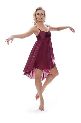 Ladies Girls All Colours Lyrical Dress Contemporary Ballet Dance Costume By Katz