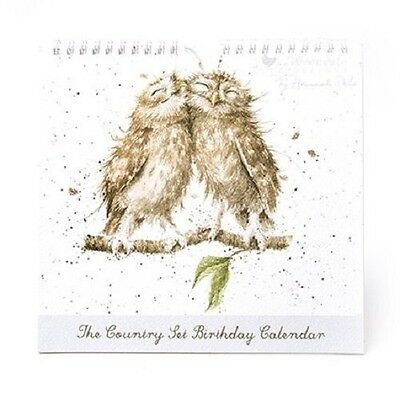 Wrendale Designs Country Set Perpetual birthday Calendar  NEW Owl