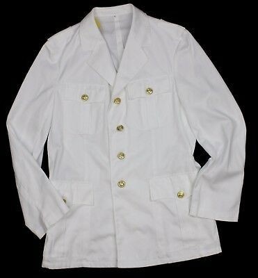 GERMAN NAVY OFFICERS JACKET TROPICAL DRESS in WHITE