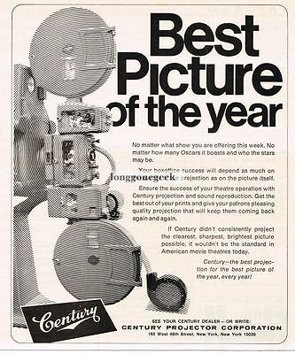 1973 Century Projector Co. Movie Theater Drive-in Projector Vtg Print Ad