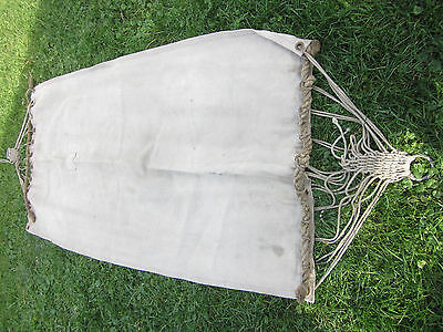 Vintage WWII US Navy Heavy Canvas Ship Hammock Nautical Knots rope Maritime Boat