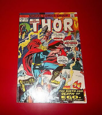 The Mighty Thor #228 The Birth and Death of Ego 1974 Great Condition