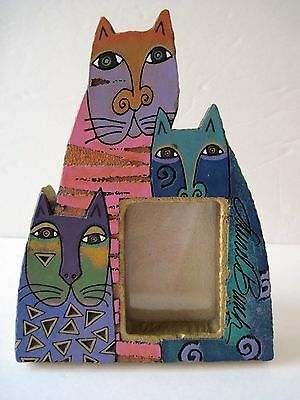 Laurel Burch 1999 Mysticats Cat Picture Frame Tabletop or Wall Hanging