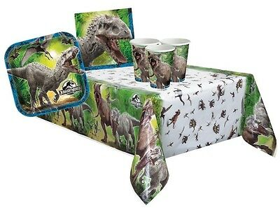 JURASSIC WORLD PARTY PACK {Tablecover/Cups/Plates/Napkins} (Birthday/Dinosaur)