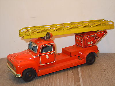 Tippco Feuerwehr Fire Truck made in US Zone Germany *12646